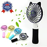 Mini Handheld Fan USB Superior quality Portable Battery Fan Desk USB Fan Folding Hand Fan Portable Rechargeable Electric Fan (black)