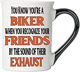 You know You're A Biker When You... Mug, You know You're A Biker When You... Coffee Cup, You know You're A Biker When You... Cup, Harley Gifts By Tumbleweed