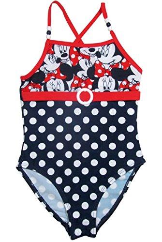 Minnie Mouse Badeanzug Kollektion 2016 Badesachen 92 98 104 110 116 122 128 Mädchen Schwimmbekleidung Sommer Neu Weiß-Blau-Rot (122 - 128)