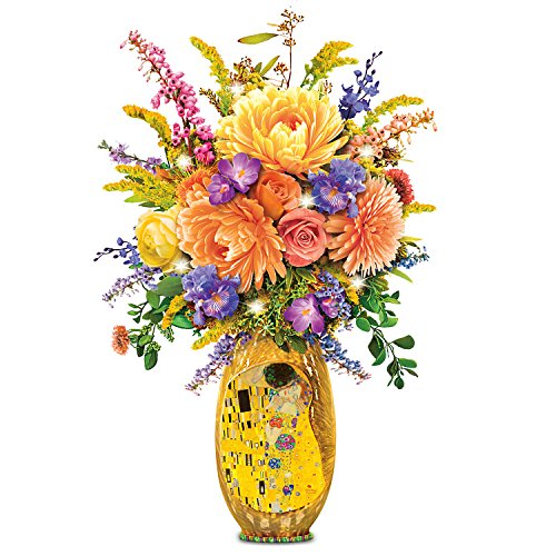 Gustav Klimt The Kiss Light Up Floral Table Centerpiece by The Bradford Exchange by Bradford Exchange