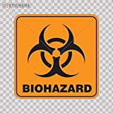 Decal Biohazard Vinyl Warning Caution Doors Factory G Car window jet ski waving protect signal ebola (4 X 4 Inches) Fully Waterproof Printed vinyl sticker