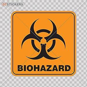 Decal Biohazard Vinyl Warning Caution Doors Factory G Car window jet ski laboratory technology digital infection A4C92