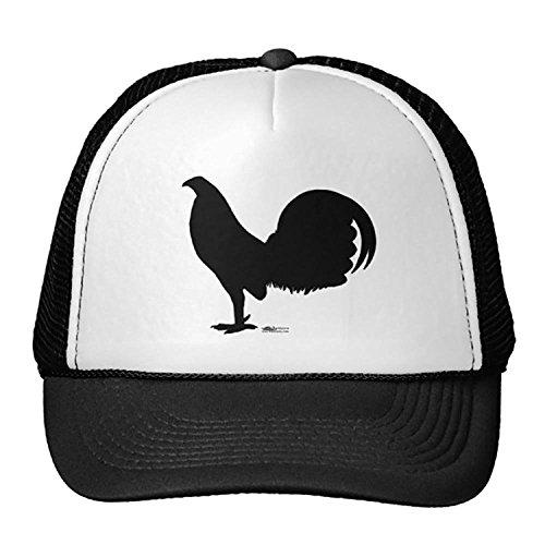 Unisex Black Gamecock Rooster Silhouette Trucker Classic Baseball Hat Unique Trucker Cap