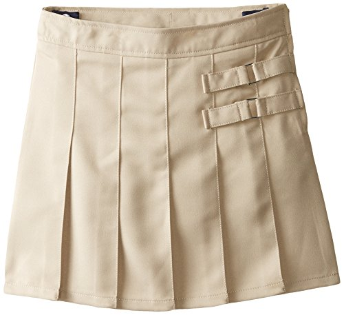 UPC 884503182933, French Toast Big Girls' Two-Tab Pleated Scooter, Khaki, 16