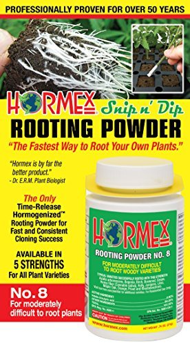 Hormex Rooting Hormone Powder #8 | for Moderately Difficult to Root Plants | Fastest IBA Rooting Powder Compound for Strong and Healthy Roots (3/4 oz)