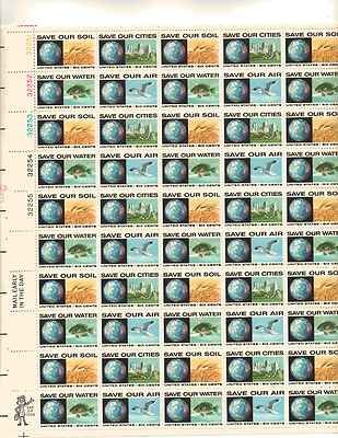 Anti Pollution Sheet Of 50 X 6 Cent Us Postage Stamps New Scot 1410 13