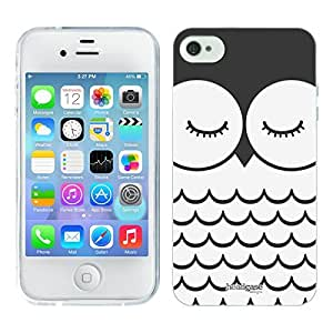 Head Case Designs Olwyn The Owl Cartoon Animal Faces Soft Gel Back Case Cover for Apple iPhone 4 4S by ruishername