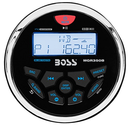 BOSS Audio MCKGB350W.6 Receiver / Speaker Package, Bluetooth, MP3/USB AM/FM Marine Stereo, (No CD/DVD), Two 6.5 Inch Speakers, Antenna