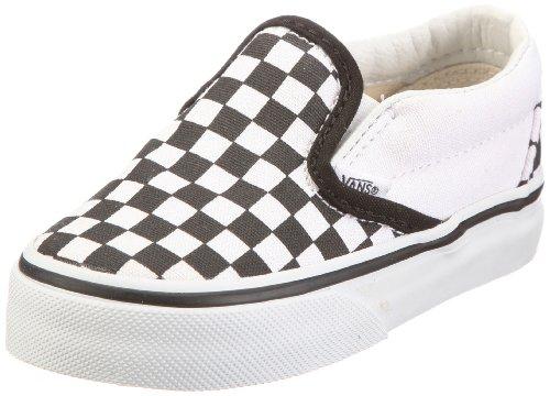 d09895e5f1 Vans Unisex Child Classic Slip On - Black White Checkerboard - 12 Toddler -  Buy Online in UAE.