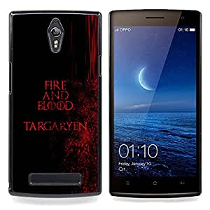 Ihec Tech Fuego y Sangre Targaryen;;;;;;;; / Funda Case back Cover guard / for OPPO Find 7 X9077 X9007
