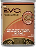 EVO 95% Turkey and Chicken Canned Cat Food – 12×13.2 oz, My Pet Supplies