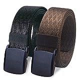 WYuZe 2 Pack Nylon Belt Outdoor Military Web Belt