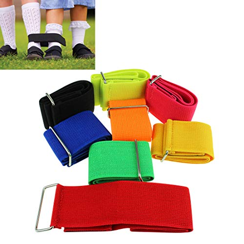 KOMIWOO 8 Pack 3 Legged Race Bands Outdoor Games for Kids Adults Field Day Game, Relay Race Game, Backyard Carnival, Birthday Party, Fun Family Games]()