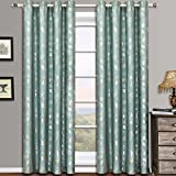 Cheap Set of 2 Panels 104″Wx108″L -Royal Tradition – CHARLOTTE – Blue – Jacquard Grommet Window Curtain Panels , 52-Inch by 108-Inch each Panel. Package contains set of 2 panels 108″ Long.