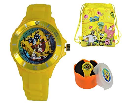 - Spongebob Gift Set Wrist Watch & Drawstring BP for Children