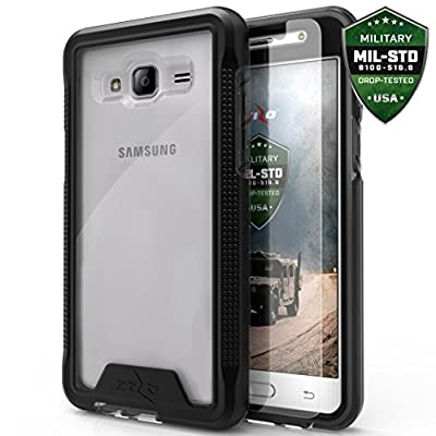 Zizo ION Cover for Samsung Galaxy On5 G550 Case [0.33MM 9H Temperered Glass Screen Protector] Shockproof Protection and [Impact Dispersion Technology]