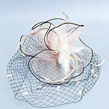 zhENfu Women's Feather / Tulle / Chiffon Headpiece-Wedding / Special Occasion Fascinators 1 Piece,Peach Headdress