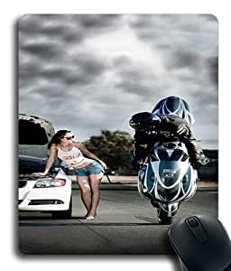 Biker Boy Custom Mouse Pad/ Mouse Mat - Cloth - 3MM - Rectangle by ruishername