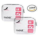 Bagail TSA Approved 3-1-1 Airline Carry On Clear Travel Toiletry Bag Quart Sized
