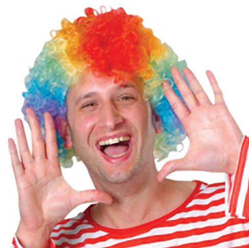 Clown Collection Costumes Makeup Kit (dolly2u Rainbow Afro Costume Clown Wig Case Pack 14)