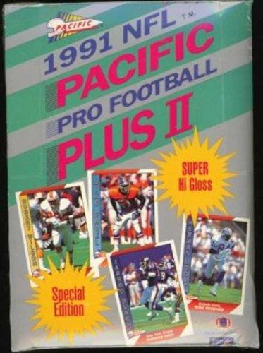 1991 Pacific Plus II NFL Pro Football (Series 2) Trading Cards (Box of 36 Unopened Packs)