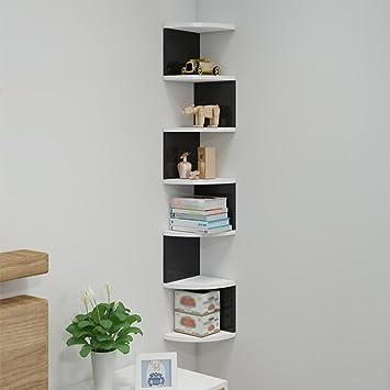 Amazonde Subbye Triangle Corner Bücherregal Wand Regale Storage