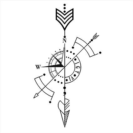 Tatuajes temporales compas brújula marítima para hombre y mujer ...