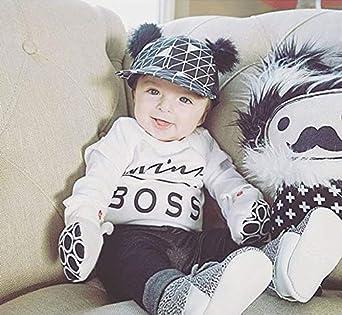 Luckylife Baby Kleidung Strampler Overall Neugeboren M/ädchen Kurz /Ärmel Mini Boss Bedruckt Niedlich Cute Romper Fr/ühling Sommer