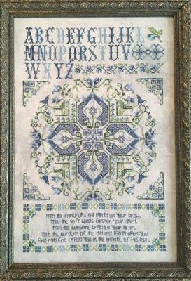 (Leeds House Sampler Cross Stitch Chart and Free Embellishment)