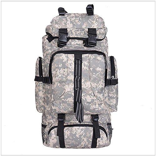 Outdoor Camouflage Alpinismo Bag Escursionismo Bag borsa a spalla di grande capienza Camping Borsa Zaino , light gray