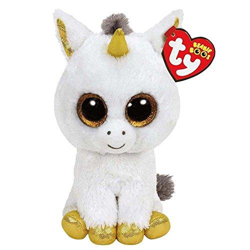 Amazon.com: JEWH Ty Beanie Boos Elephant and Monkey Plush Doll Toys for Girl Rabbit Fox Cute Animal Owl Unicorn Cat Ladybug (White Unicorn): Toys & Games