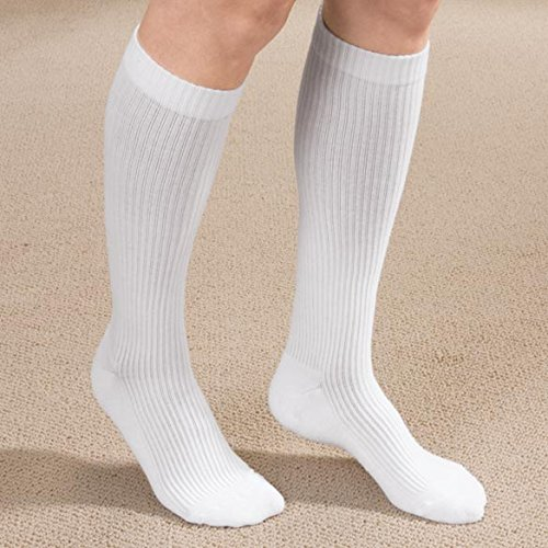 1151d5ea60 Amazon.com: MD USA Ribbed Cotton Compression Socks with Cushion Soles, Tan,  Large: Health & Personal Care