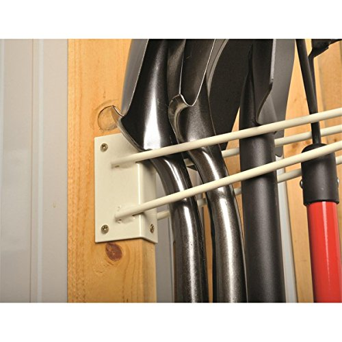 12''L Wire Rod Tool Storage Rack for Unfinished Shed Garage & Shop Walls - Securely Hang and Store Long Handled Shovels Garden Rakes + Hose Pipes Brooms Spades Coils & General Work Tools by GEMPLER'S (Image #2)