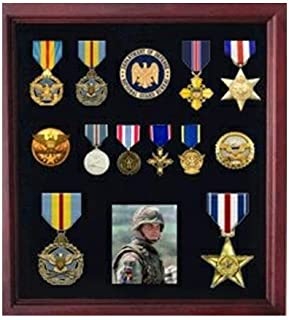 product image for flag connections Military Medal Display case, American Medal Shadowbox.