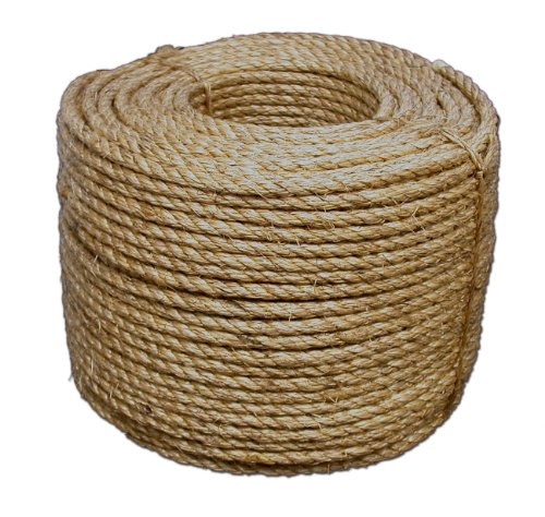 T.W Evans Cordage 30-001 1/4-Inch by 1200-Feet Pure Number-1 Manila Rope