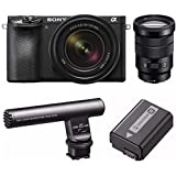 Sony a6500 Mirrorless Camera with 18-135mm f/3.5-5.6, SELP18105G Lens & ECMGZ1M