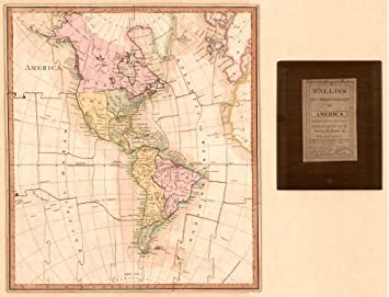 Map Of America In 1812.1812 Map Wallis S New Dissected Map Of America Engraved From The
