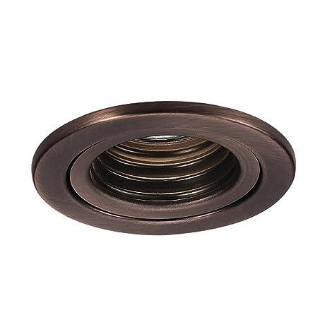wac lighting hr 834 cb accessory low volt mini baffle trim copper