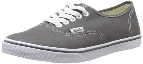 Vans Unisexs Vans Authentic Lo Pro Casual Shoes 7 Men Us   8 5 Women Us  Pewter True White