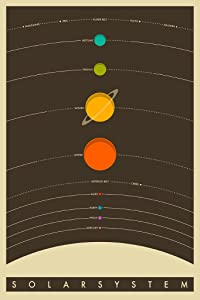 E The Solar System Educational Space Poster Print (24X36 UNFRAMED Poster)
