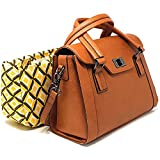 Purple Relic: Women DSLR Camera Bag ~ Ladies Top-Handle Handbag with Removable Camera Case (3 Vintage Brown)