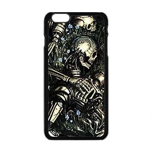 Black Skull Pattern Custom Protective Hard Phone Cae For Iphone 6 Plus