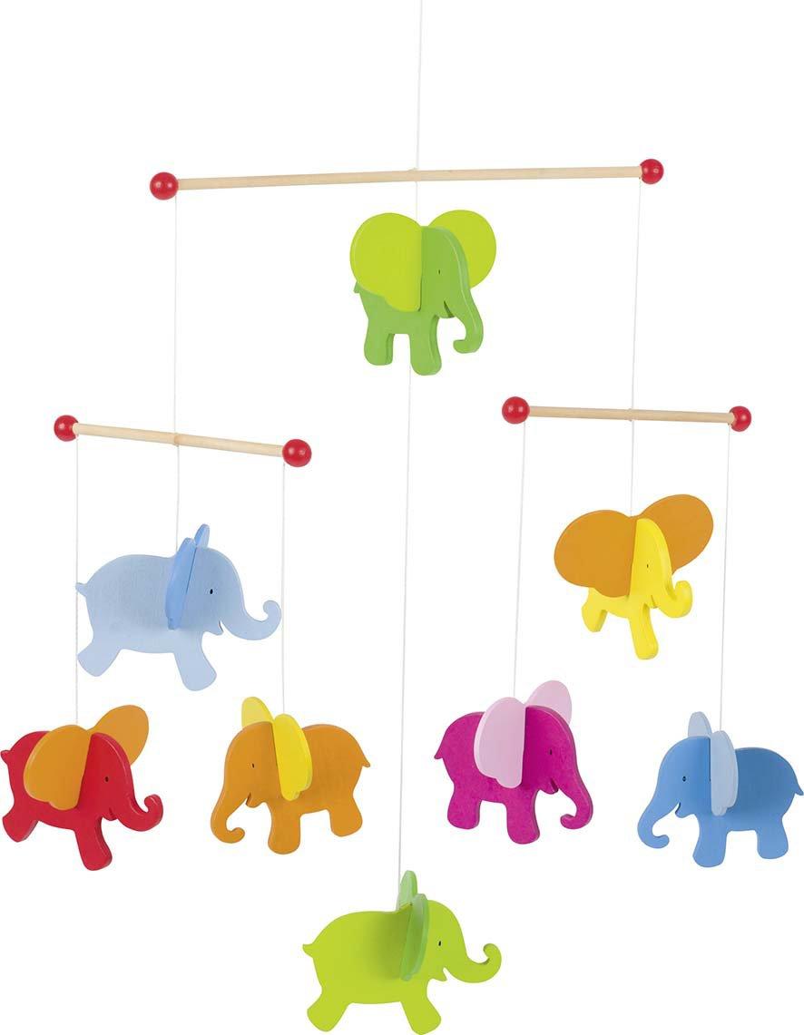 Goki Giostrina con elefanti: 40cm x 45cm, in legno, per pezzo 52904