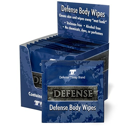 Defense Soap Body Wipes, 12 Individually Packed Travel Wipes - 100% Natural and Pure Pharmaceutical Grade Tea Tree Oil and Eucalyptus Oil