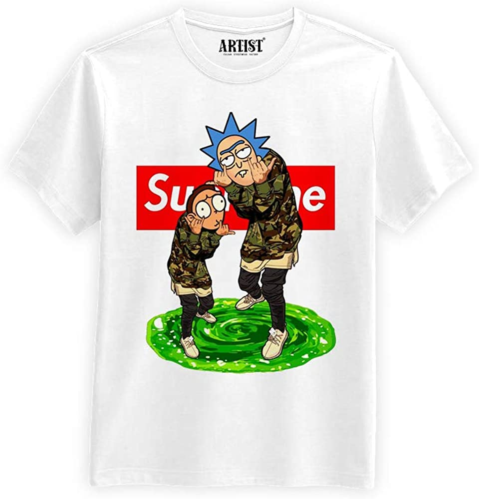 ARTIST T-Shirt Supreme Rick e Morty Unisex