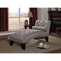 NHI Express Mila Chaise Lounge, 61 by 26.5 by 32, Grey
