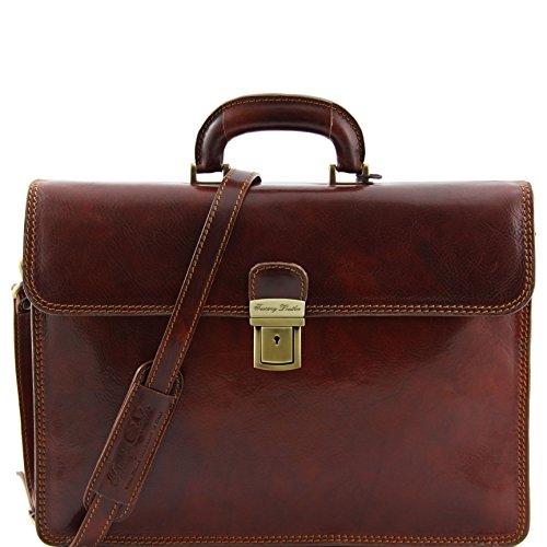 8100184 - TUSCANY LEATHER: PARMA - Cartable en cuir, marron