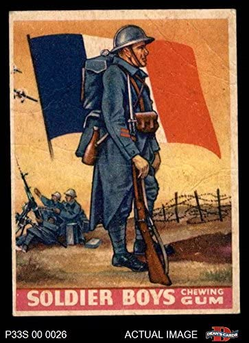 1933 Goudey Soldier Boys # 13 French - Poilu (Card) Dean's Cards 2 - GOOD 515EwWuIbGL