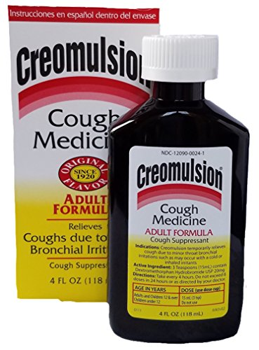 (Creomulsion Adult Cough Medicine, 4 Ounce (Pack of 3))