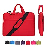 11.6 Inch Laptop Case, Laptop Shoulder Bag, CROMI Simplicity Slim Lightweight Briefcase Commuter Bag Business Sleeve Carry Hand Bag Nylon Waterproof Notebook Shoulder Messenger Bag (Red, 11.6 inch)